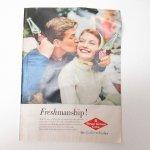 ヴィンテージ広告マガジン切抜き  ライフ 1960年代 LIFE誌広告 ロイヤルクラウンコーラ カップル