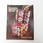 ヴィンテージ広告マガジン切抜き  ライフ 1960年代 LIFE誌広告 コカコーラ