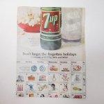 ヴィンテージ広告マガジン切抜き  ライフ 1960年代 LIFE誌広告 7UP