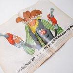 ヴィンテージ広告マガジン切抜き  ライフ 1960年代 LIFE誌広告 複数・見開きページ フィリップス66 & Squirt
