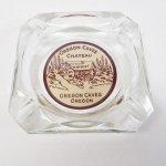 他・アメリカンキッチン&リビングアイテム  ヴィンテージ 灰皿 Oregon Cave 茶 アッシュトレイ