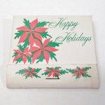 マッチブック  ヴィンテージマッチブック Happy Holidays ポインセチア