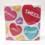 他・アメリカンキッチン&リビングアイテム  バレンタイン ペーパーナプキン18枚セット キャンディスイーツ 未開封
