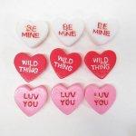 リビング  バレンタイン キャンディハーツ キャンドル3個セット