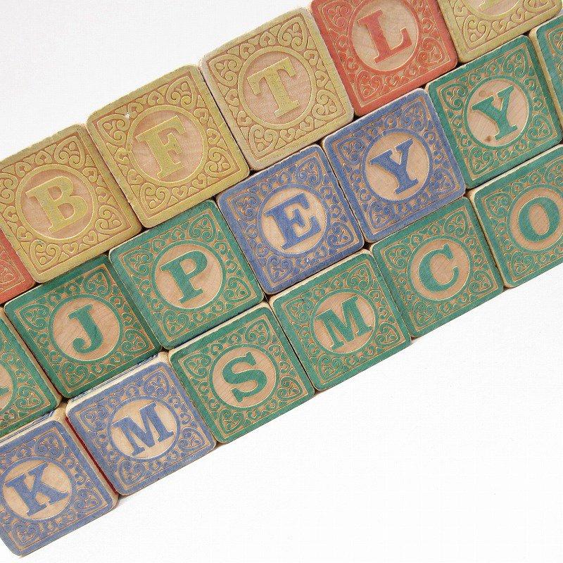 アルファベット ブロック 木製 20個セット