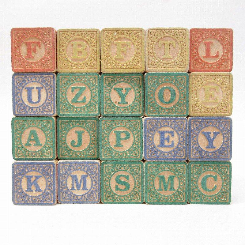 アルファベット ブロック 木製 20個セット【画像2】