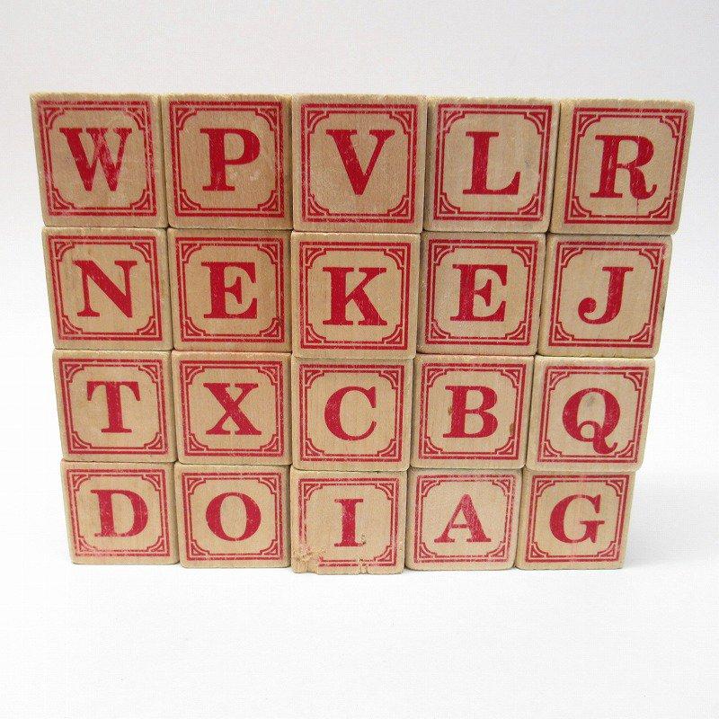アルファベット ブロック 木製 20個セット【画像13】