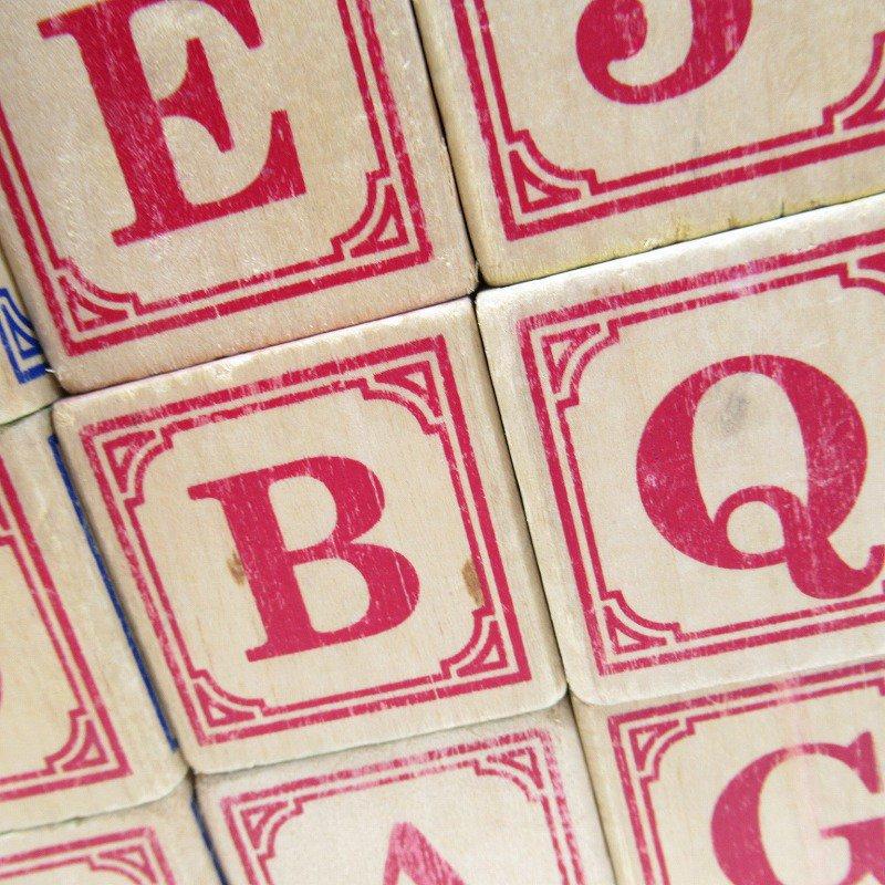 アルファベット ブロック 木製 20個セット【画像15】
