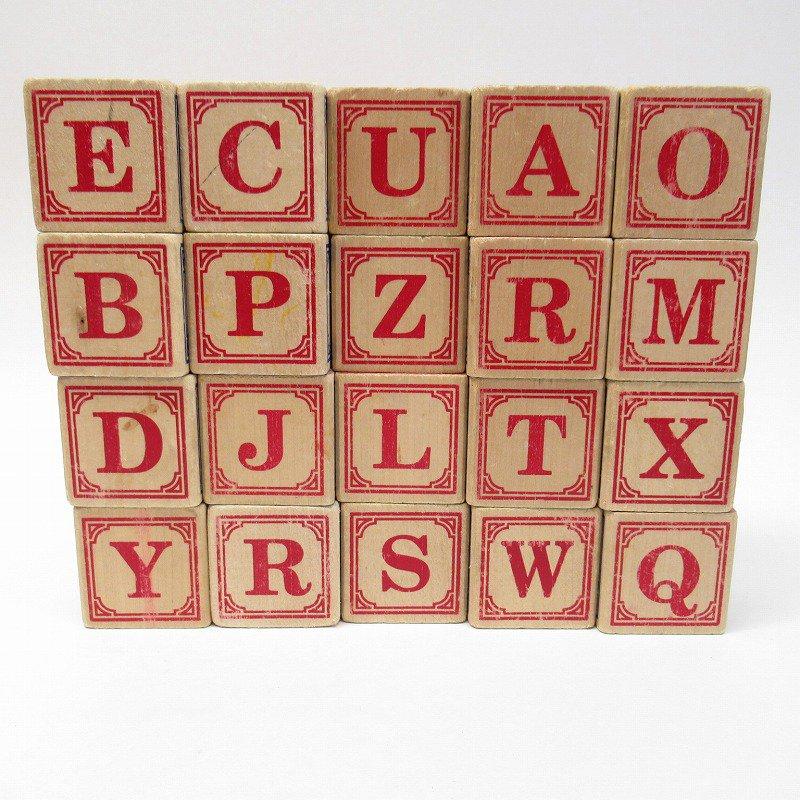 アルファベット ブロック 木製 20個セット【画像16】