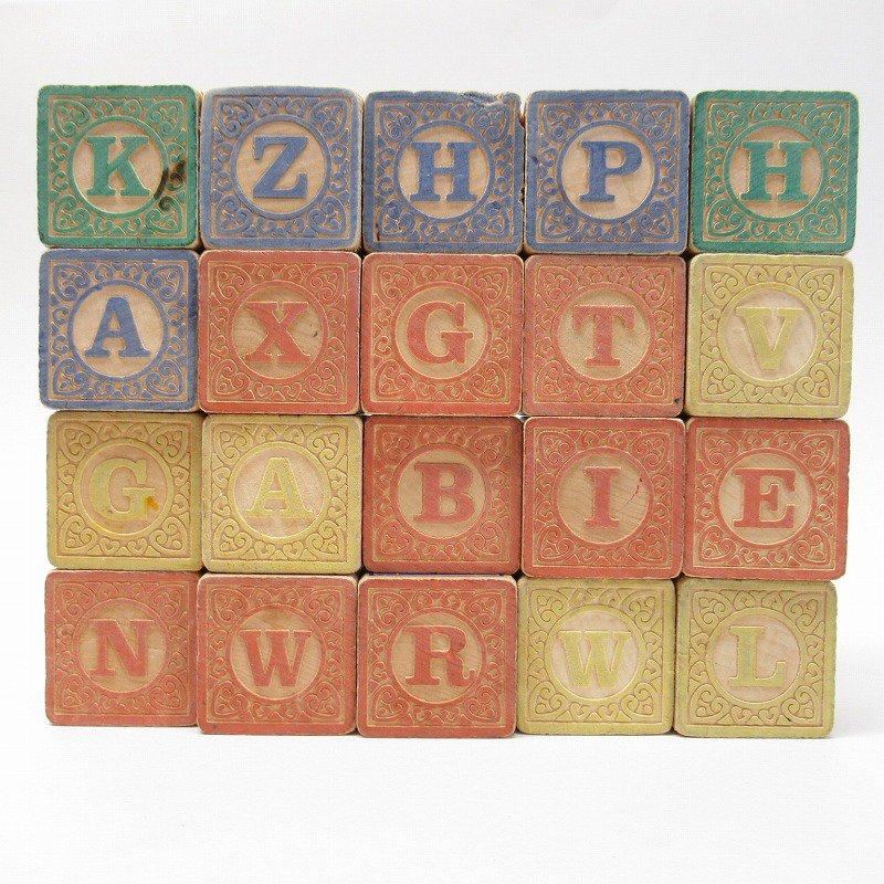 アルファベット ブロック 木製 20個セット【画像3】