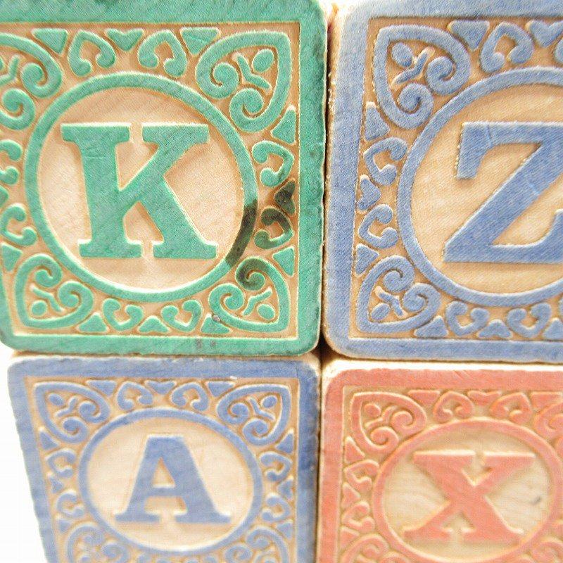 アルファベット ブロック 木製 20個セット【画像4】