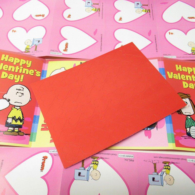 スヌーピー バレンタインカード32枚入り 未使用ボックス入り【画像12】
