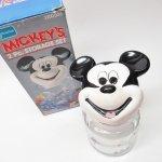 アンカーホッキング ミッキー 陶器製フェイス&ガラス製キャニスター デッドストック