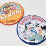 キャラクター  ディズニー 缶バッチ お得な2個セット 1st Visit & Goofy's Kitchen