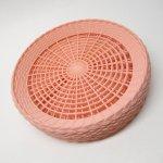 プラスチック&メラミン食器  紙皿用 プラスチック製ホルダー ライトピンク