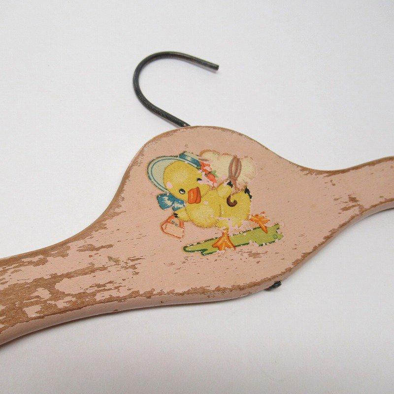 ベビー用 木製ハンガー ピンク ボンネットダック C