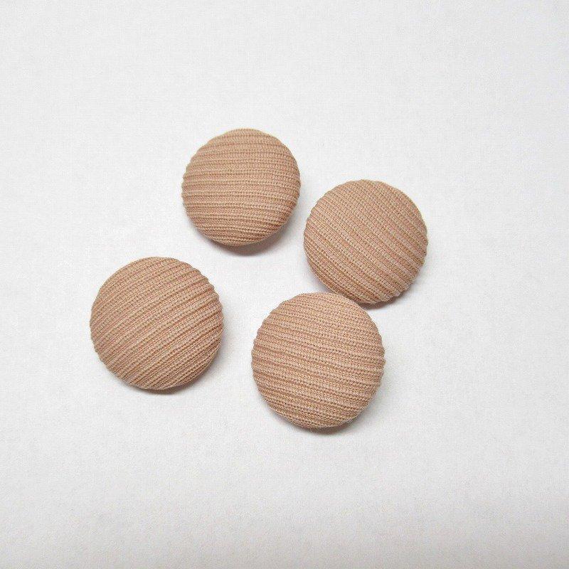 ヴィンテージボタン 布製 サーモンピンク 4個セット【画像2】