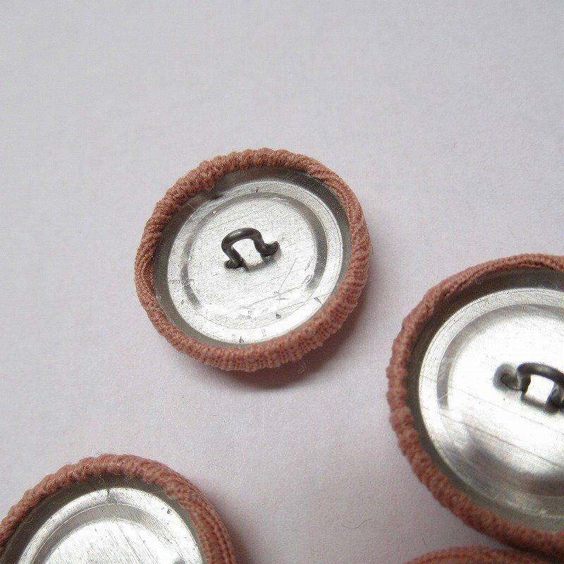 ヴィンテージボタン 布製 サーモンピンク 4個セット【画像4】