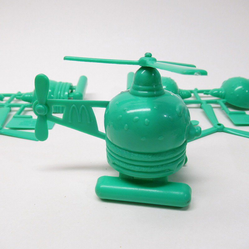 マクドナルド 1986年 ミールトイ エアポートシリーズ ビッグマックコプター 緑【画像7】