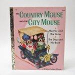ベビー・ナーサリー&チャイルド系  ヴィンテージ絵本 ゴールデンリトルブック The Country Mouse and the City Mouse