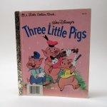 ベビー・ナーサリー&チャイルド系  ヴィンテージ絵本 ゴールデンリトルブック 三匹の子豚