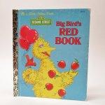 E.T.など他キャラクター  ヴィンテージ絵本 ゴールデンリトルブック セサミストリート Big Bird's Red Book