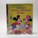 ディズニー  ヴィンテージ絵本 ゴールデンリトルブック ミッキー Mickey Mouse's Picnic