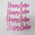 キッチン  イースター ケーキデコレーション Happy Easter ピンク