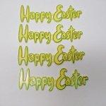 キッチン  イースター ケーキデコレーション Happy Easter イエロー
