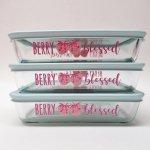 現行品・ガラス商品  パイレックス 3カップ 並行輸入品 苺柄 Berry Blessed