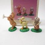 ツリーにつけるオーナメント  イースターオーナメント ホールマーク 1996年 森の音楽隊3体セット