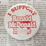 缶バッチ  マクドナルド ヴィンテージ 缶バッチ I Support Ronald McDonald House