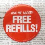 ファッション  マクドナルド ヴィンテージ 缶バッチ Free Refills