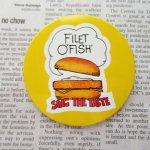 ファッション  マクドナルド ヴィンテージ 缶バッチ フィレオフィッシュ