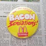 缶バッチ  マクドナルド ヴィンテージ 缶バッチ Bacon