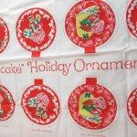 ツリーにつけるオーナメント  ストロベリーショートケーキ クリスマス オーナメント8個用 生地 B