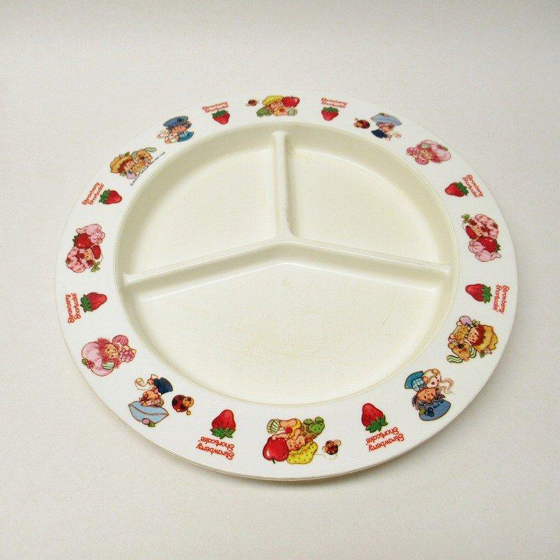 ストロベリーショートケーキ プラスチック製 3コンパートメントプレート A