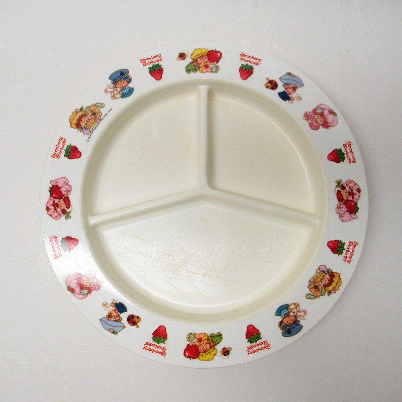 ストロベリーショートケーキ プラスチック製 3コンパートメントプレート A 【画像2】