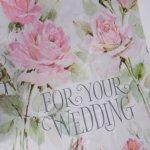 イベント  ヴィンテージラッピングペーパー 1960年〜70年代 ピンクローズ For Your Wedding