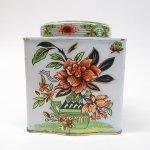 その他  ティン缶 イギリス製 ヴィンテージ ピンクフラワーオリエンタル