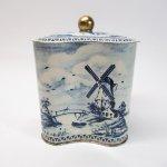 その他  ティン缶 イギリス製 ヴィンテージ 青の風景