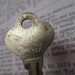 鍵&ヴィクトリア時代シューフック  アメリカンヴィンテージ 鍵 K