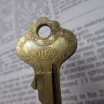 鍵&ヴィクトリア時代シューフック  アメリカンヴィンテージ 鍵 N