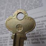 鍵&ヴィクトリア時代シューフック  アメリカンヴィンテージ 鍵 R
