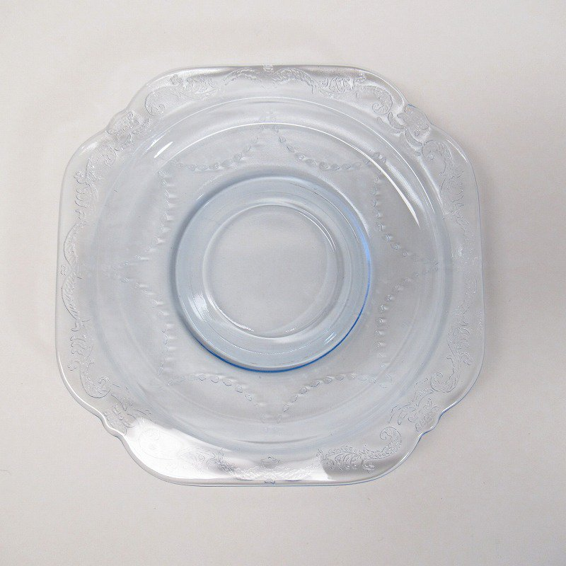 フェデラルグラス インディアナグラス マドリッド マドンナブルー カップ & ソーサー C【画像6】
