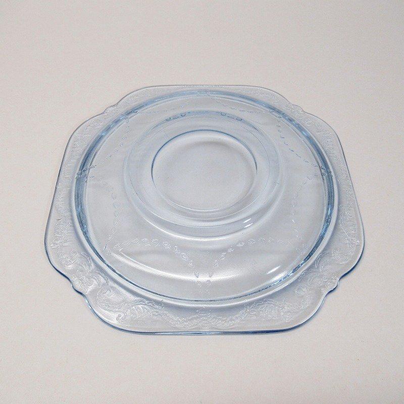 フェデラルグラス インディアナグラス マドリッド マドンナブルー カップ & ソーサー C【画像9】