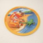 プラスチック&メラミン食器  マクドナルド 1977年 シーズンズシリーズ プレート 夏 D