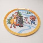 プラスチック&メラミン食器  マクドナルド 1977年 シーズンズシリーズ プレート 冬 A