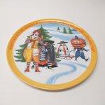 プラスチック&メラミン食器  マクドナルド 1977年 シーズンズシリーズ プレート 冬 B