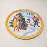 プラスチック&メラミン食器  マクドナルド 1977年 シーズンズシリーズ プレート 冬 C